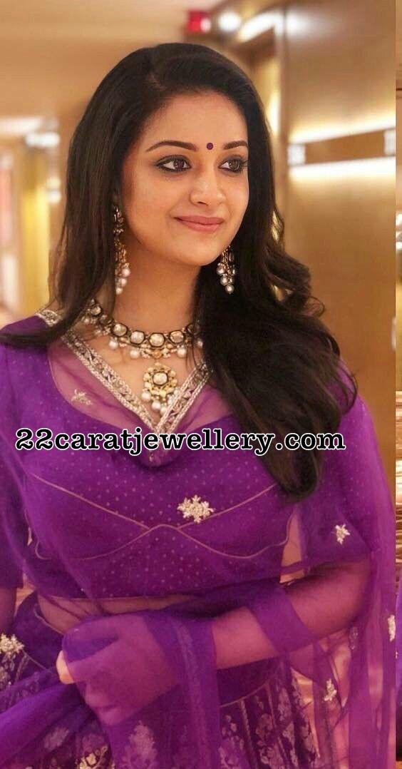 Keerthi Suresh Polki Necklace