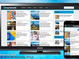 Mari kita Belajar membuat template Blogger! Kerangka Template - Responsive Blogger Template