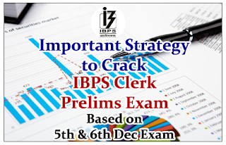 Important Strategy to Crack IBPS Clerk Prelims Exam (Based on 5th& 6th Dec 2015 Exam)
