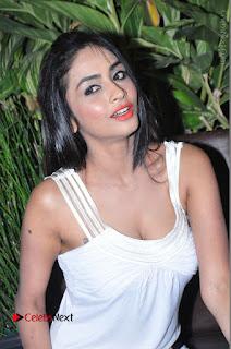 Actress Model Pooja Sri Stills in White Short Dress at F Club pre soft Launch  0149.JPG