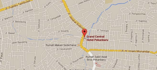 Grand Central Hotel map