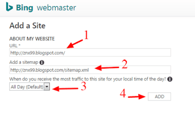 bing site submission, bing sitemap submission,