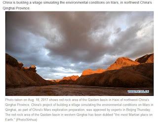 China to build Mars village