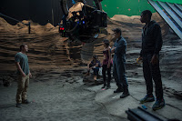 Becky G, Dacre Montgomery, Naomi Scott, Ludi Lin and RJ Cyler on the set of Power Rangers (2017) (6)