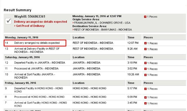 tracking resi DHL