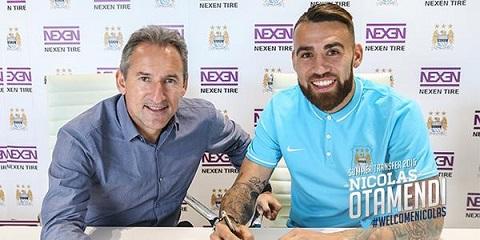 Otamendi chính thức gia nhập Man City theo bản hợp đồng 5 năm