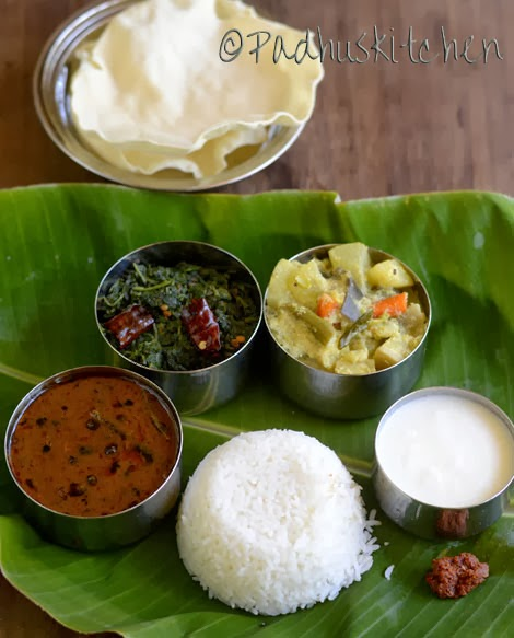 South Indian Vegetarian Lunch Menu