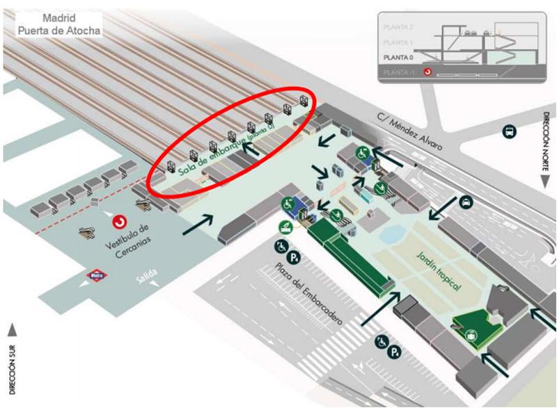Estacion De Atocha Mapa.Embarque Por Planta Baja Para Los Viajeros De Los Alvia A