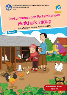 Download Buku K13 Revisi 2018 Kelas 3 SD/MI Semester 1