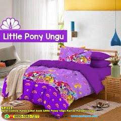Sprei Custom Katun Lokal Anak Little Ponny Ungu Kartun Karakter Ungu
