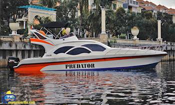 sewa dan rental kapal speed boat predator