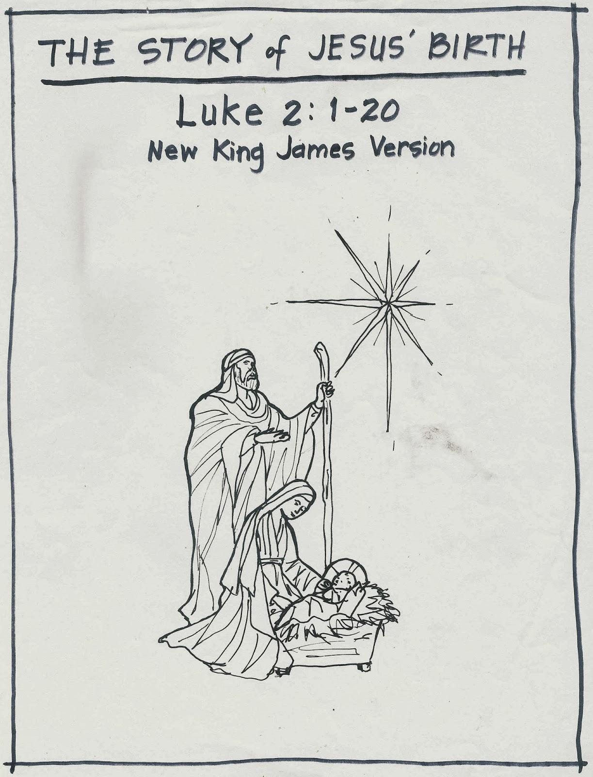 The Story Of Jesus Birth Luke 2 1 20 Scripture Melo S