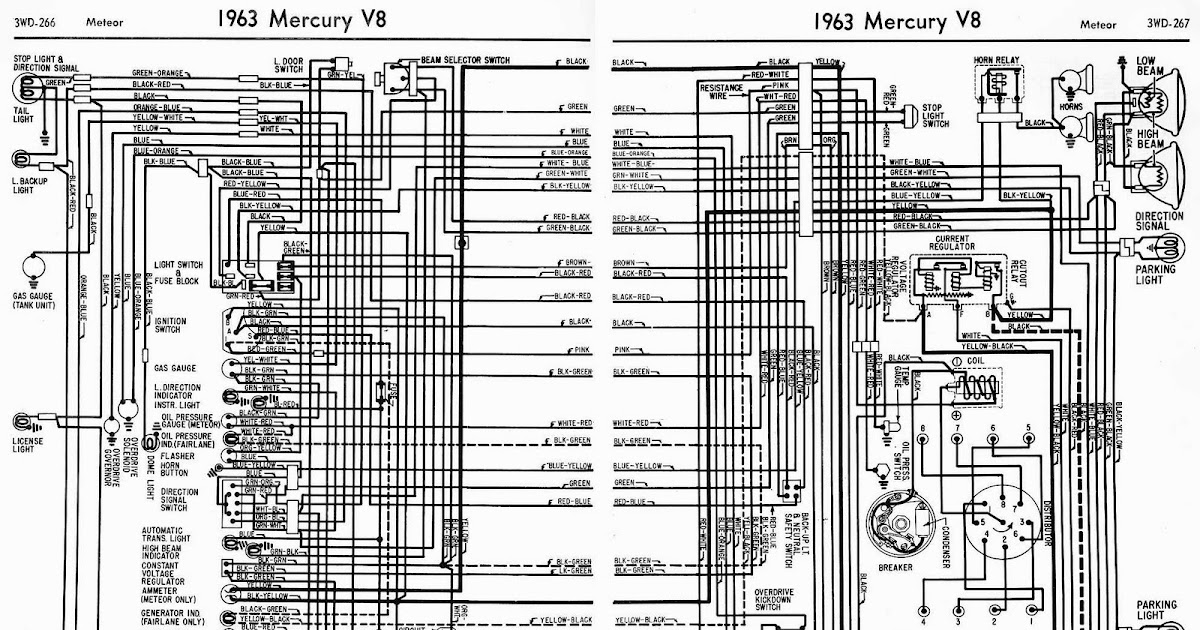 2007 Bmw Fuse Box Diagram Proa 1963 Mercury V8 Meteor Complete Wiring Diagram