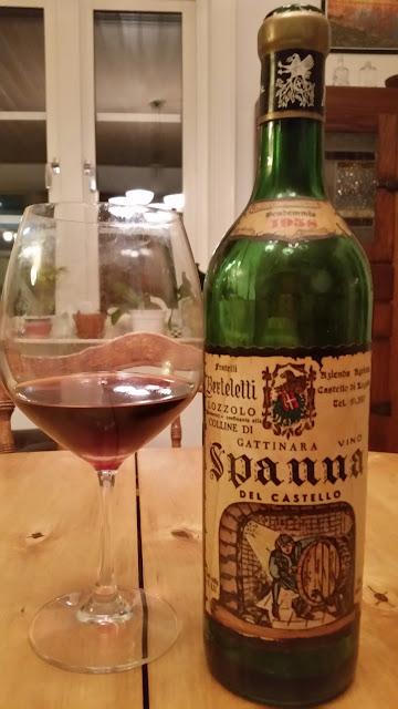 A bottle of 1958 Berteletti Spanna