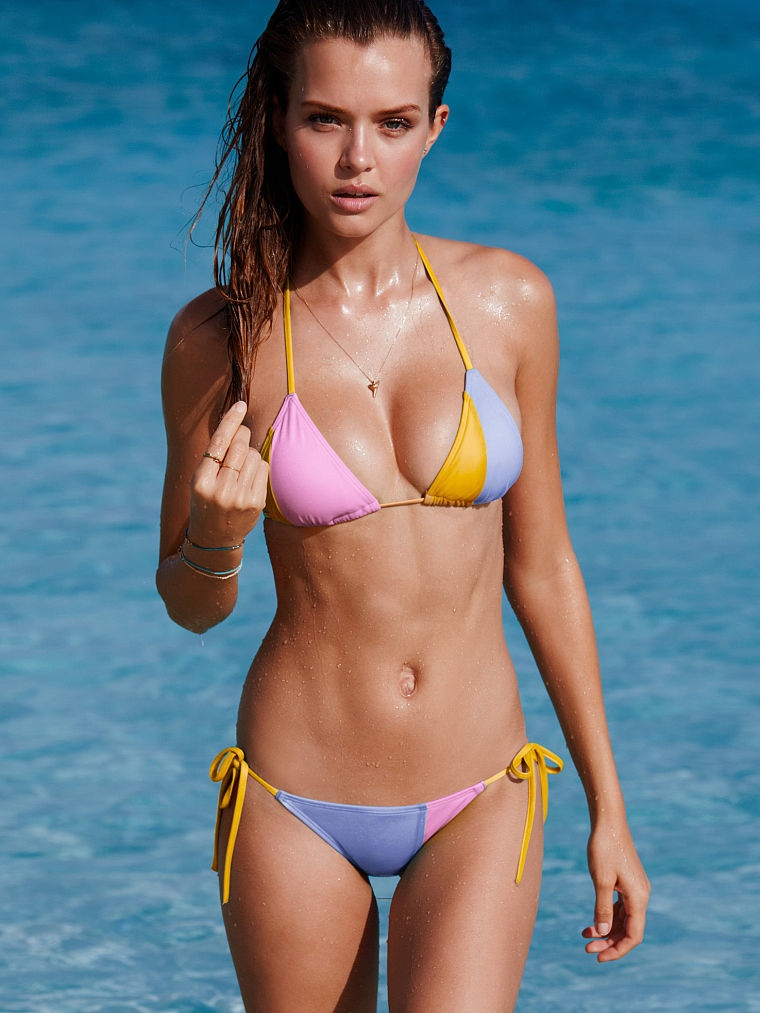Josephine Skriver strips to swim looks for Victoria's Secret July 2015 Lookbook