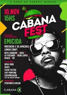 CABANA FEST TERÁ SHOW DO EMICIDA