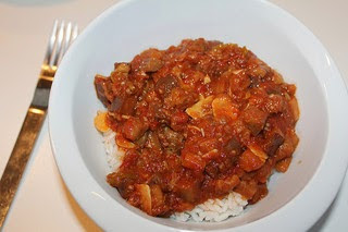 Curry goat vegetable stew