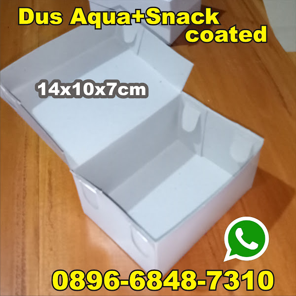 dus snack kardus aqua kotak putih