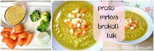 Proso, mrkva, brokoli i luk za bebe