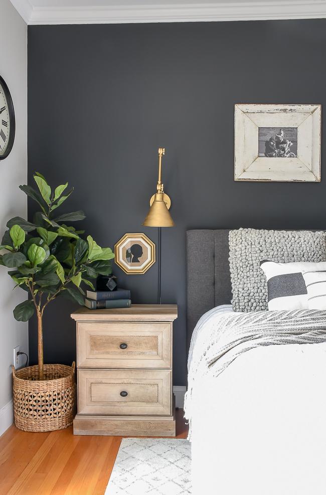 High contrast bedroom