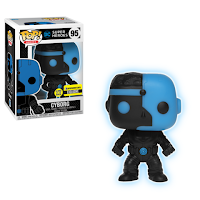Justice League Cyborg Silhouette Glow in the Dark Pop! Vinyl Figure - Entertainment Earth Exclusive