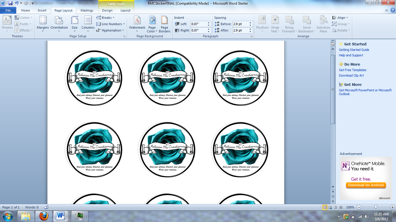 This is a picture of Transformative How to Make Round Sticker Labels in Word