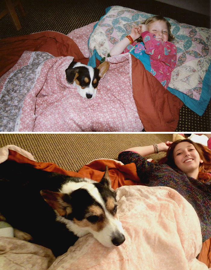 30 Heart-Warming Photos Of Dogs Growing Up Together With Their Owners - My Best Friend For The Past 15 Years