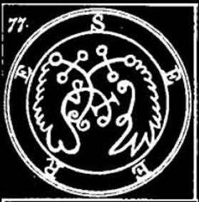 Seere, Sear, Seir, Sigilo, Goetia, Daemon, Demonologia