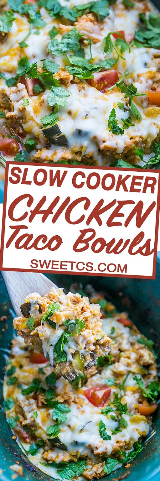 THE BEST SLOW COOKER CHICKEN TACO BOWLS RECIPE