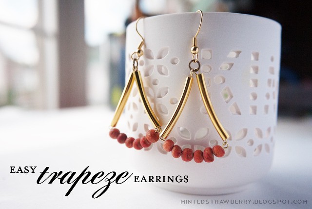 easy trapeze earrings