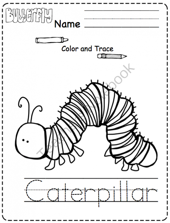 butterfly life cycle printable book for preschool and - 550×720