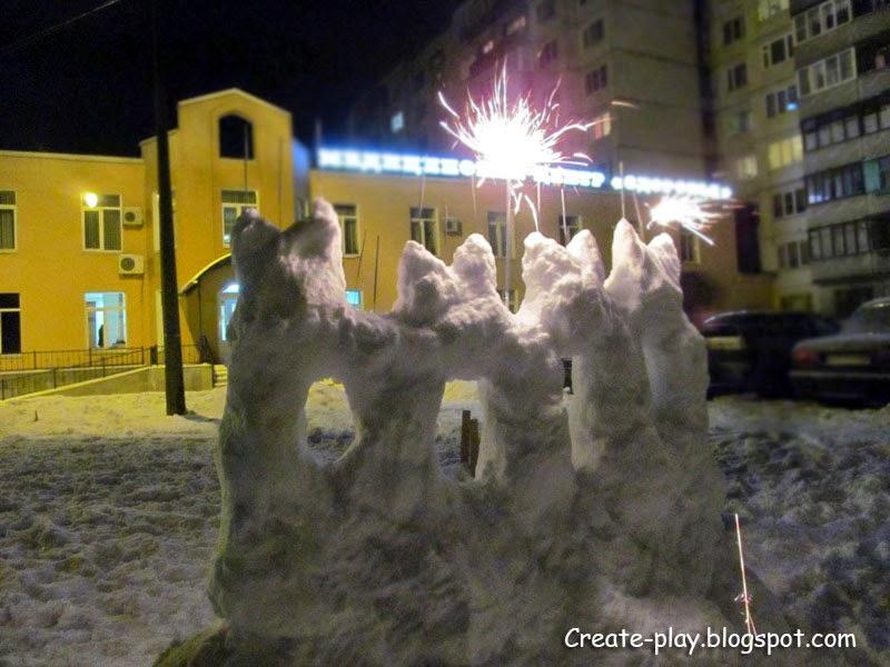 snow castle снежная крепость