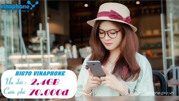 Đăng ký gói cước BIG70 mạng Vinaphone