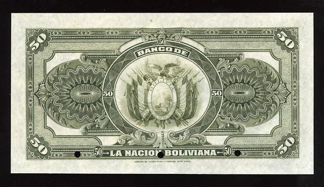 cincuenta bolivianos billetes