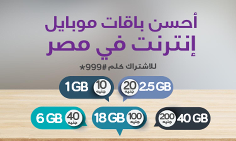 الإشتراك باقات الانترنت الشهرية من Te Data We دي داتا للموبايل