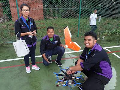 Team University Teknikal Malaysia Melaka all ready to go.