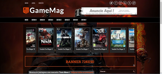 GameMag Templates Para Blogger