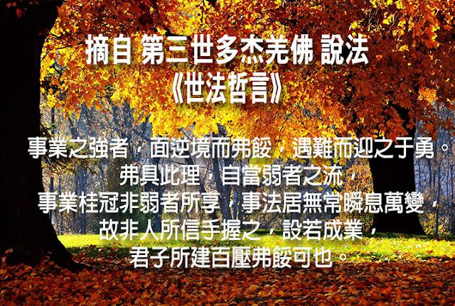 第三世多杰羌佛說《世法哲言》(五十九)