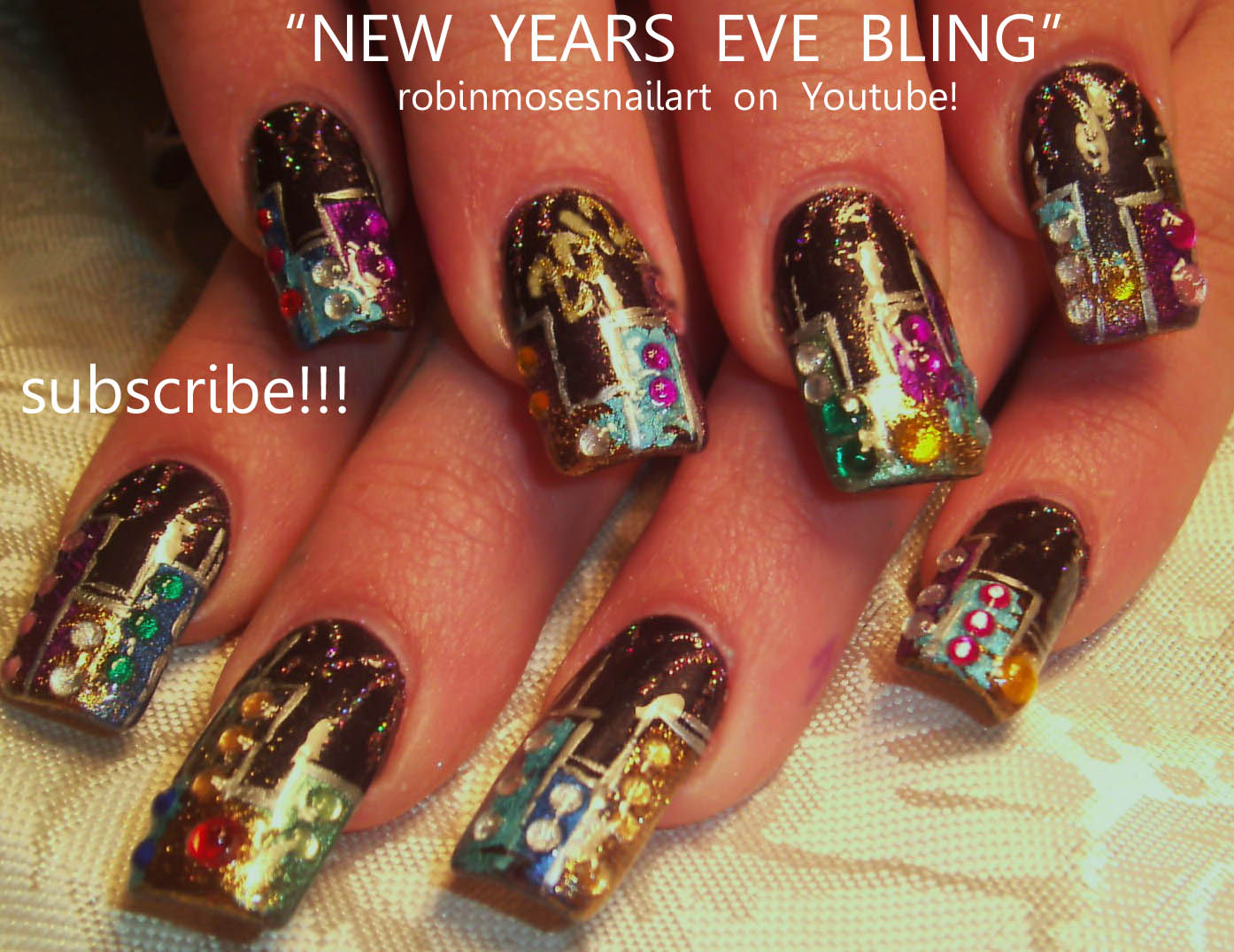 Nail Art by Robin Moses: new york nails, new year 2012, new year ...