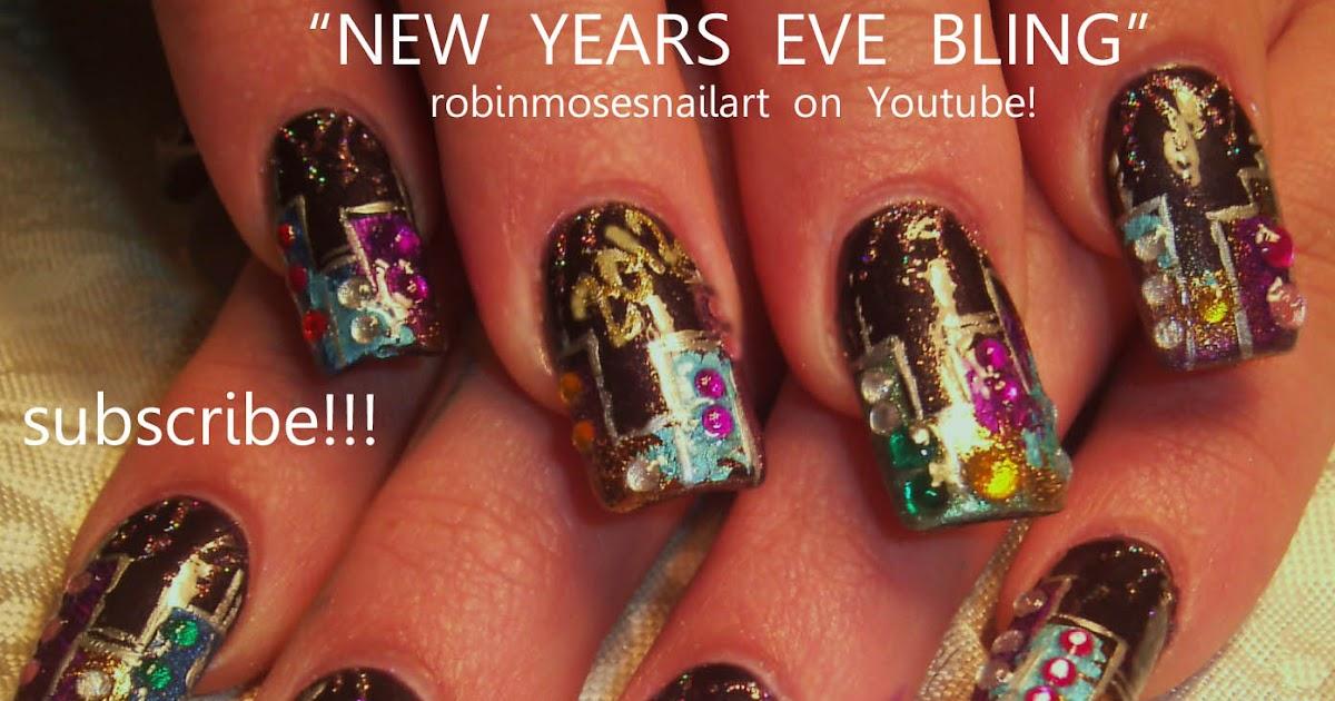 Nail Art by Robin Moses: new york nails, new year 2012, new year ...