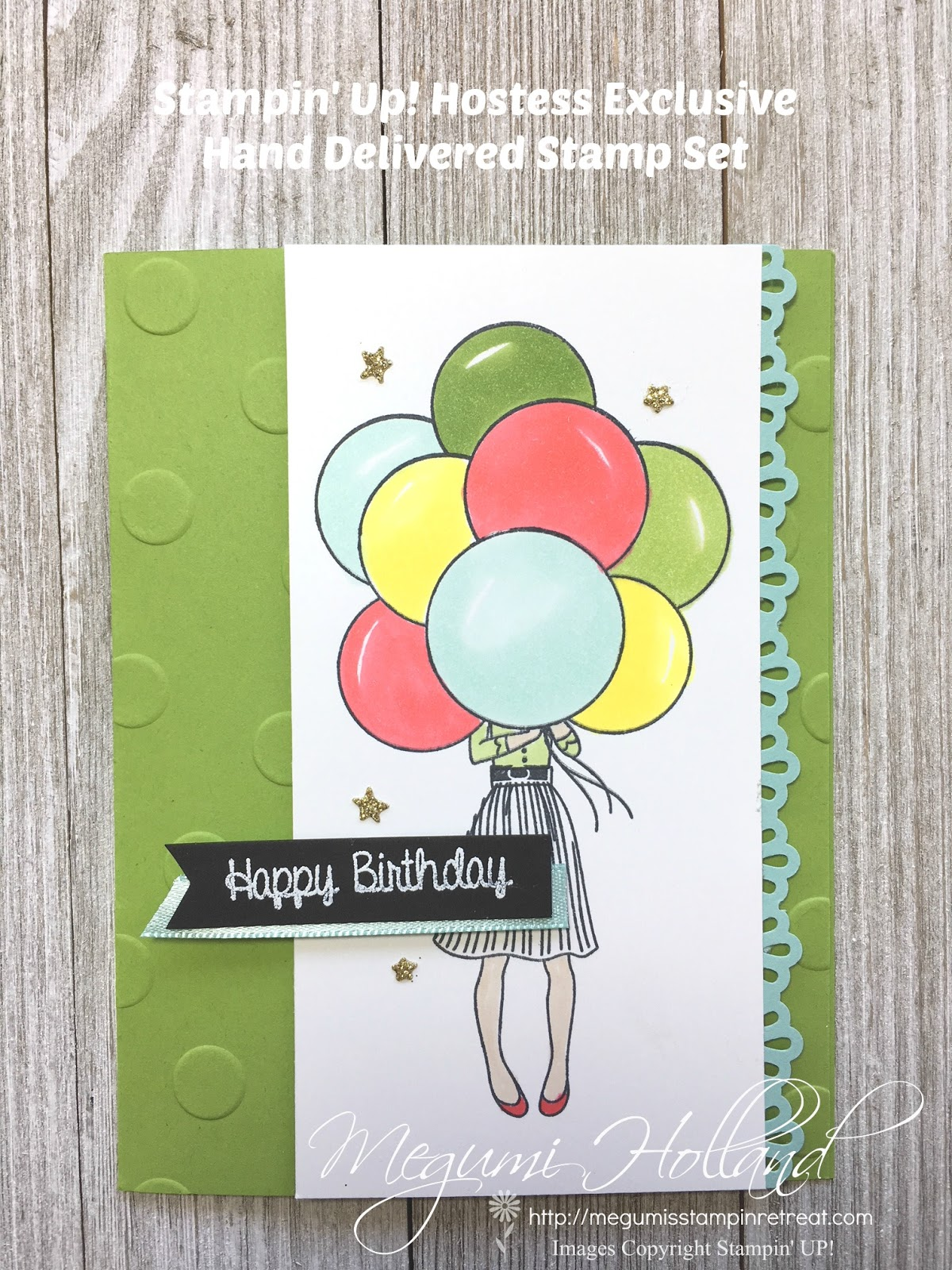 Hand Delivered Happy Birthday Card