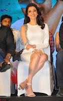 Beautiful Smiling Kajal Aggarwal in Creamy White Gown at MLA Telugu Movie Success Meet ~ .com Exclusive Pics 027.jpg