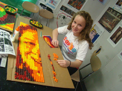 Art of Apex High School: Skittle Art Almost Done