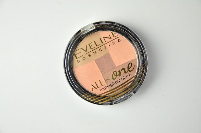 rozświetlający róż eveline all in one highlighter blush