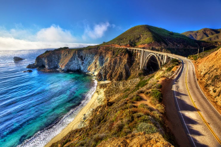 7. Bixby Bridge, Big Sur, California, USA - Top 10 Scenic Rides