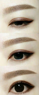 Tutorial Cara Membuat Alis Mata dengan Pensil Alis (Korea atau Melengkung)