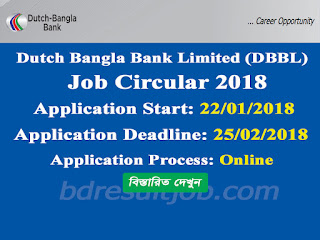 DBBL - Dutch Bangla Bank Limited Job Circular 2018