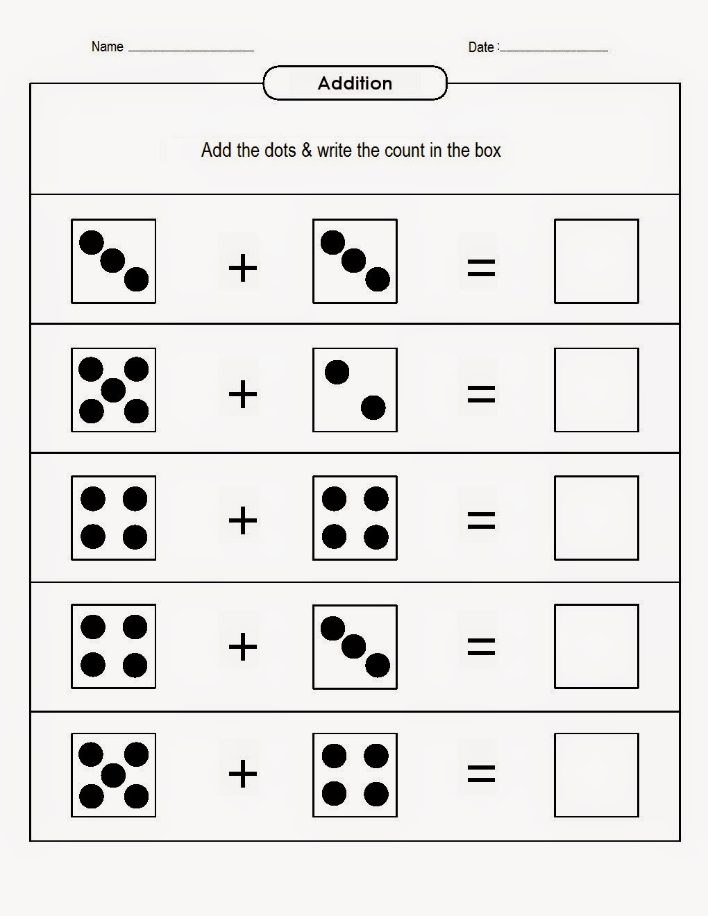 kindergarten worksheets maths worksheets addition with dots worksheets 6. Black Bedroom Furniture Sets. Home Design Ideas