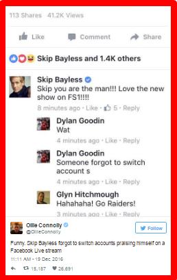 Skip Bayless Facebook