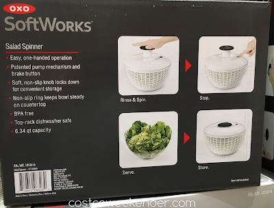 Costco 1053616 - Oxo SoftWorks Salad Spinner - great for any salad lover